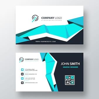 Голубая корпоративная карточка psd