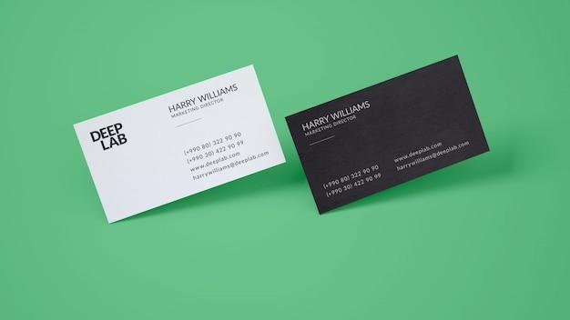 Премиум визитная карточка макет psd