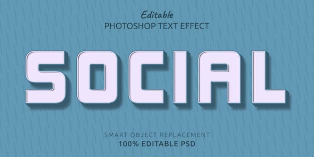 Социально редактируемый текстовый эффект psd