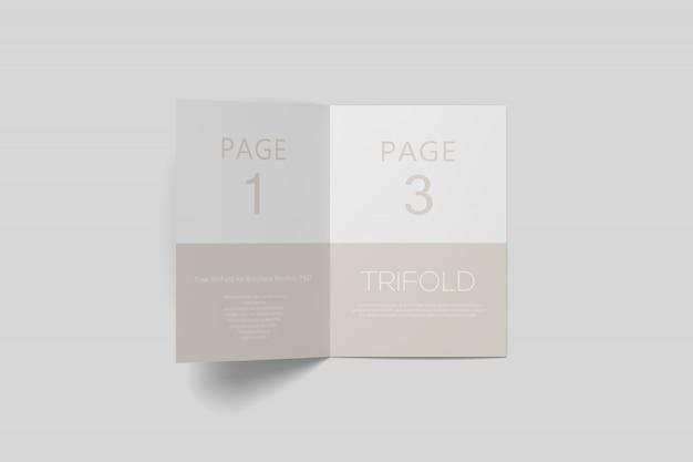 Тройная брошюра psd макет