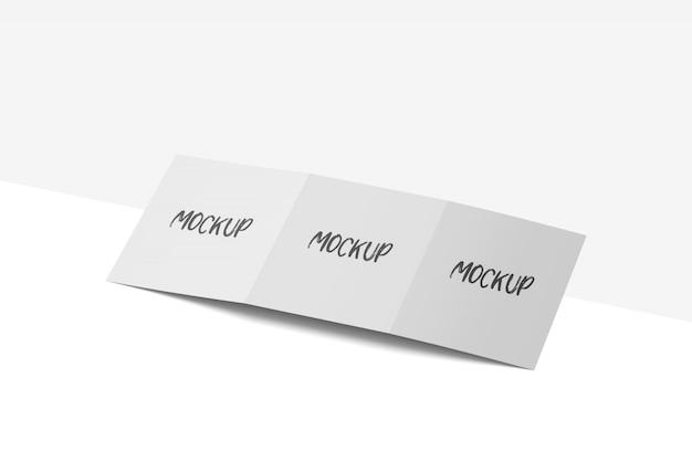 四つ折りパンフレットモックアップ無料psd