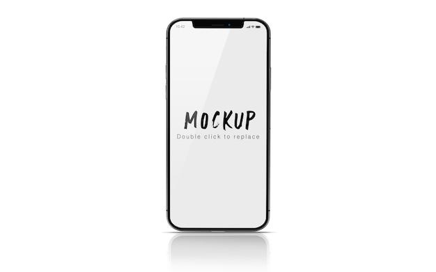 分離されたスマートフォンのモックアップpsd