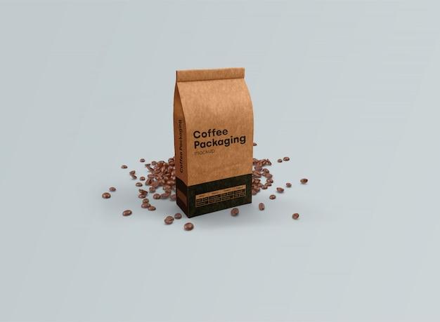 コーヒーバッグモックアップ重力psd
