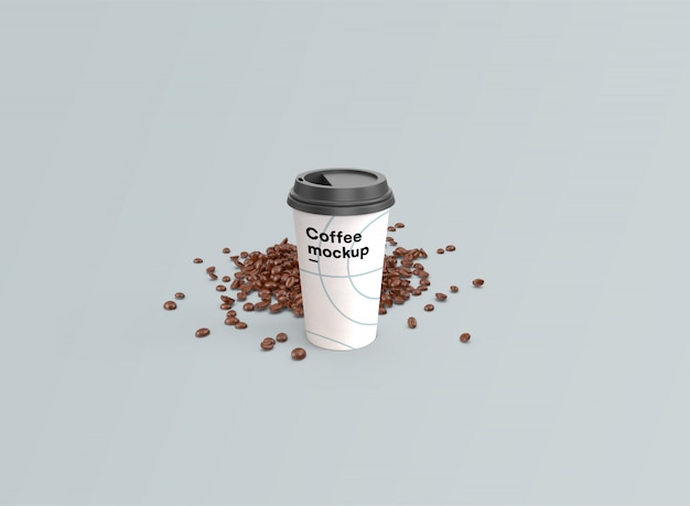 Кофейная чашка макет psd