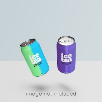 Сода может макет коллекции psd