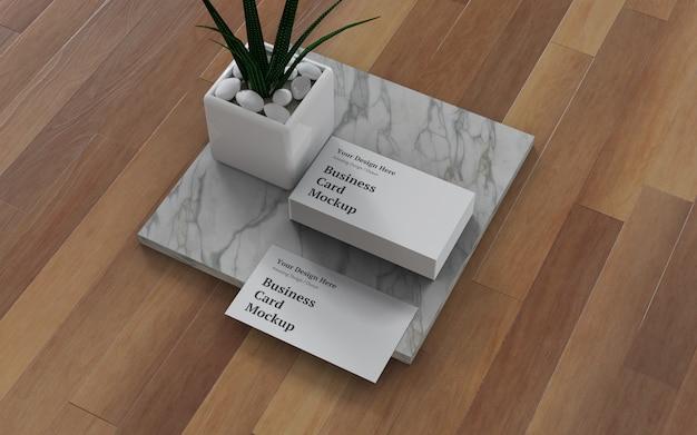 Визитная карточка макет psd