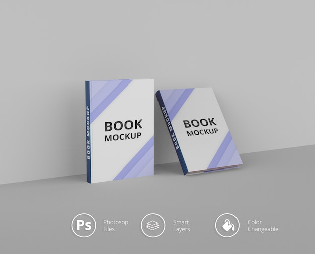 Книжные макеты psd файлов