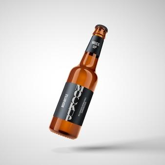 Пивная бутылка макет премиум psd