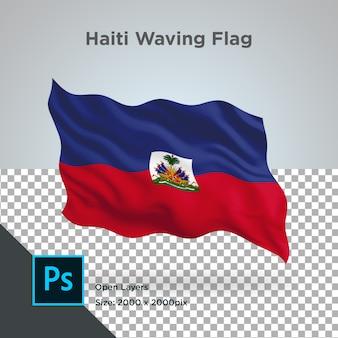 ハイチ国旗波透明psd