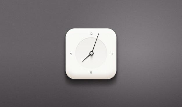 Часы psd белые часы