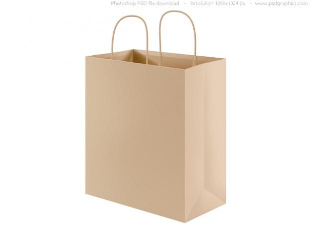 Psd переработанных сумку бумаги