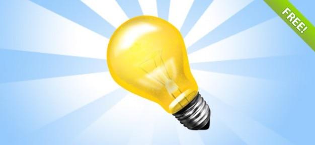 Лампа psd иконка