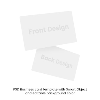 Psd шаблон визитной карточки со смарт-объектом