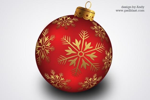 Рождественский шар висит psd