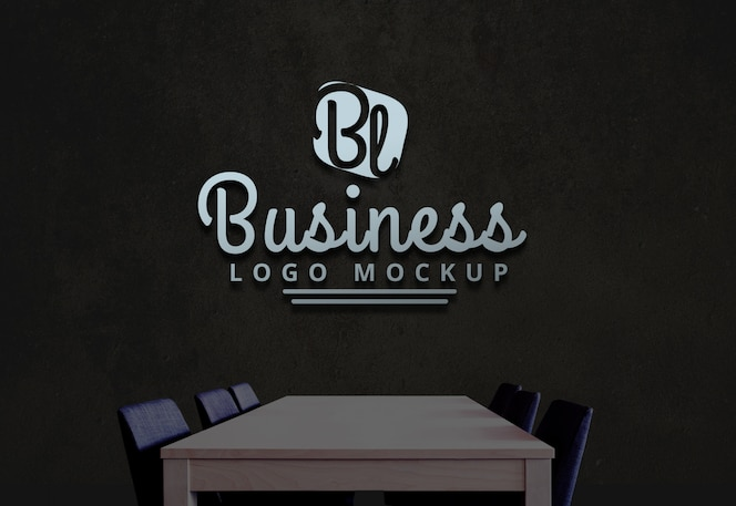 Бизнес логотип макет psd логотип макет