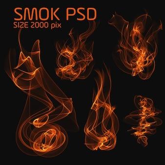 Psdの火の煙