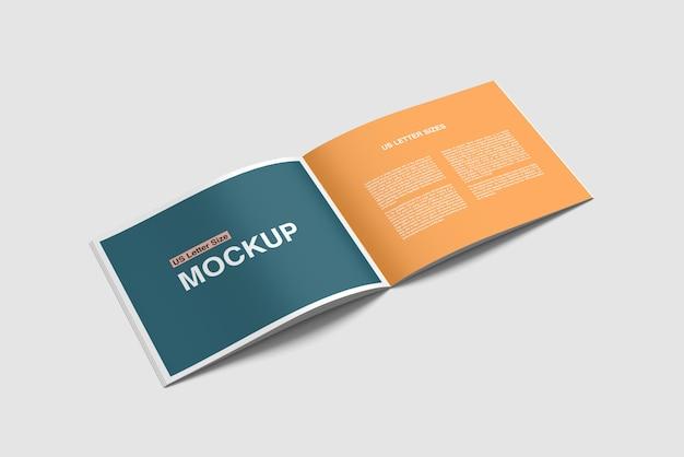 Открытая альбомная книга или журнал psd макет