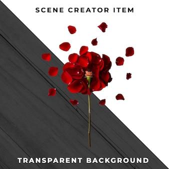 Цветочный объект прозрачный psd