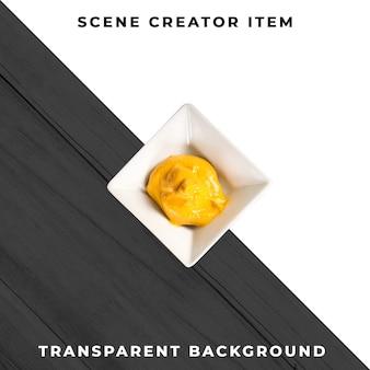 Соусная тарелка предметная прозрачная psd