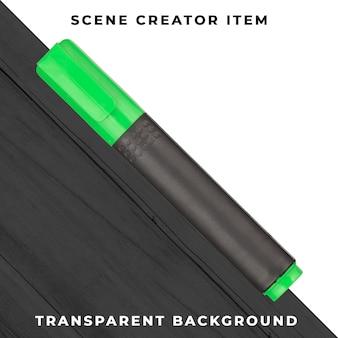 マーカーペンオブジェクトの透明なpsd