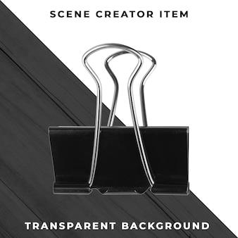 金属のペーパークリップオブジェクトの透明なpsd