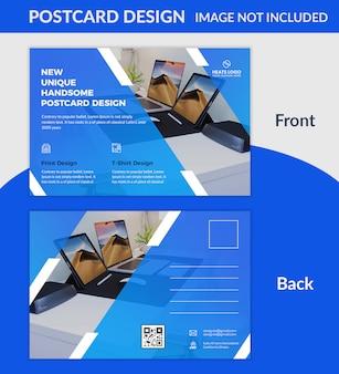 Креативный дизайн открытки psd шаблон