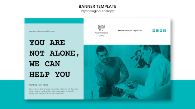 Psychological therapy banner design