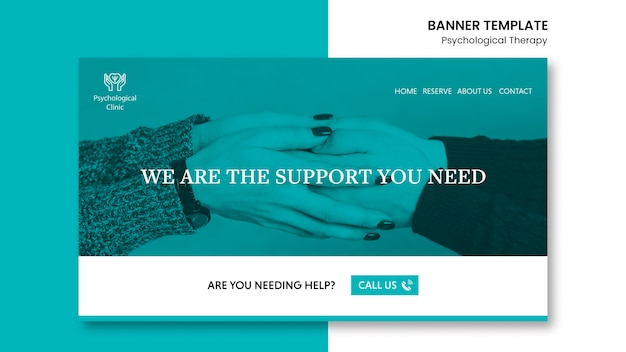 Psychological therapy banner template