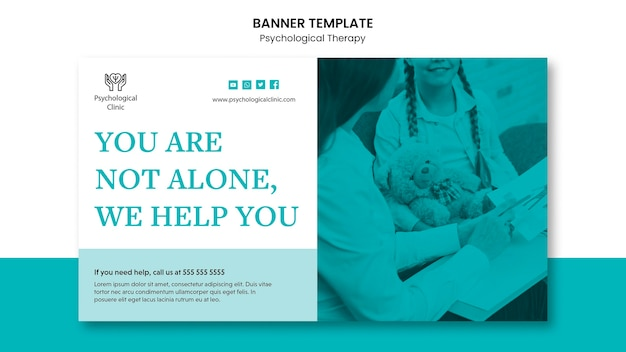 Psychological therapy banner theme
