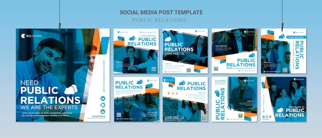 Public relations instagram posts Free Psd