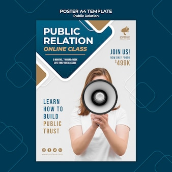 Public relations print template