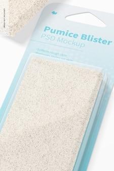 Pumice blister mockup, close up