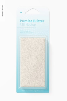Pumice blister mockup, front view