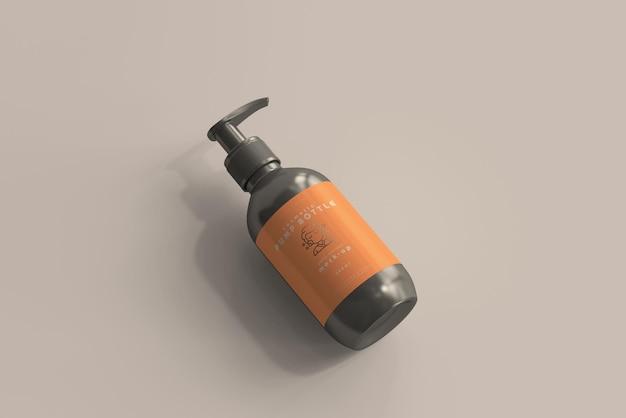 Мокап бутылки с насосом
