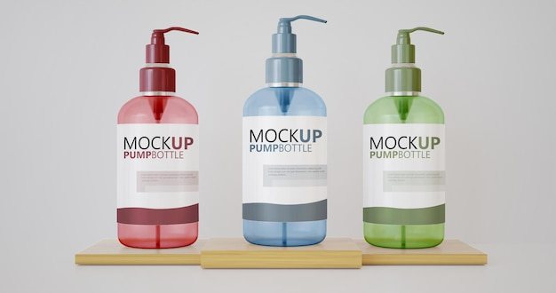 Макет бутылки с мылом для различных продуктов