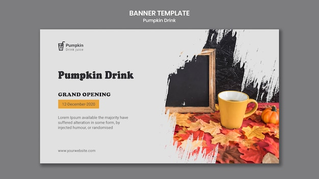 Pumpkin drink banner template