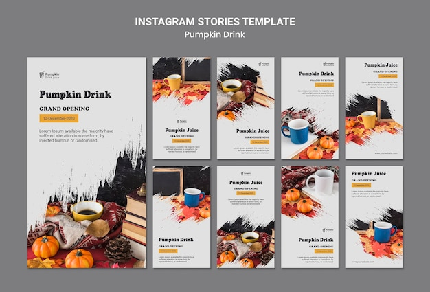 Pumpkin drink instagram stories template