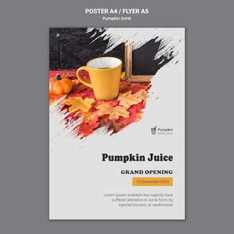 Pumpkin drink poster template