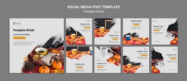 Pumpkin drink social media post template