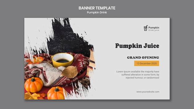 Pumpkin drink template banner