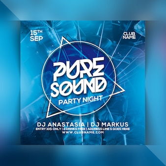 Pure sound party flyer