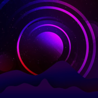 Purple circle background desig