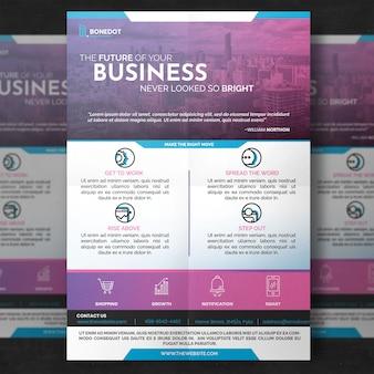 Purple corporate flyer template