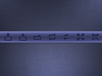 Purple glyphs toolbar PSD material