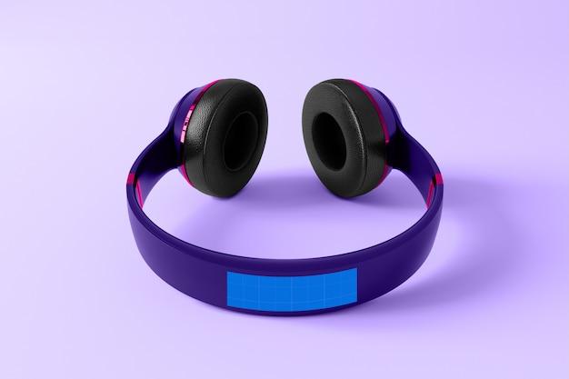Фиолетовый макет наушников