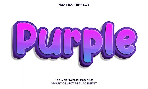 Фиолетовый текстовый эффект