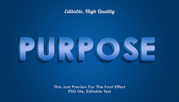 Purpose font efftext, mockup