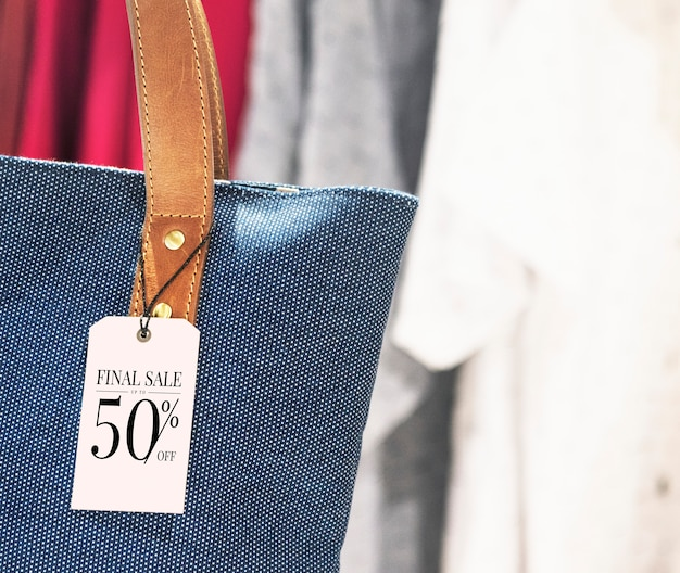 Purse discount label tag