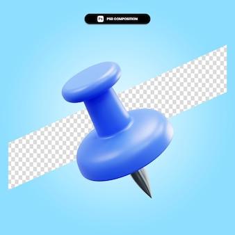 Канцелярская кнопка 3d визуализации изолированных иллюстрация