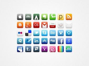 Px social media icons